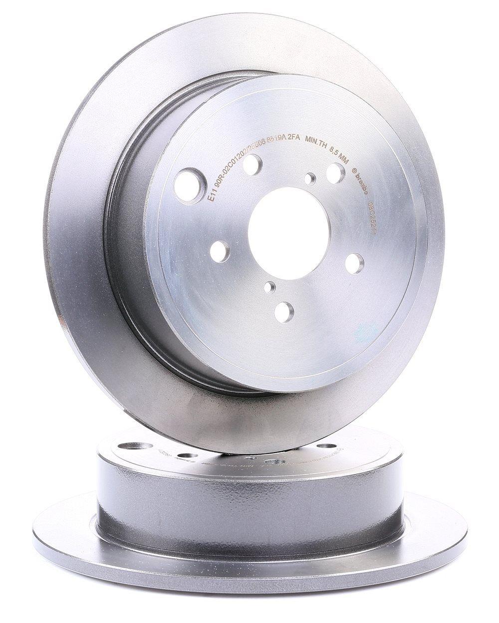 08.C252.11 BREMBO COATED DISC LINE Voll, beschichtet Ø: 286mm, Lochanzahl: 5, Bremsscheibendicke: 10mm Bremsscheibe 08.C252.11 günstig kaufen