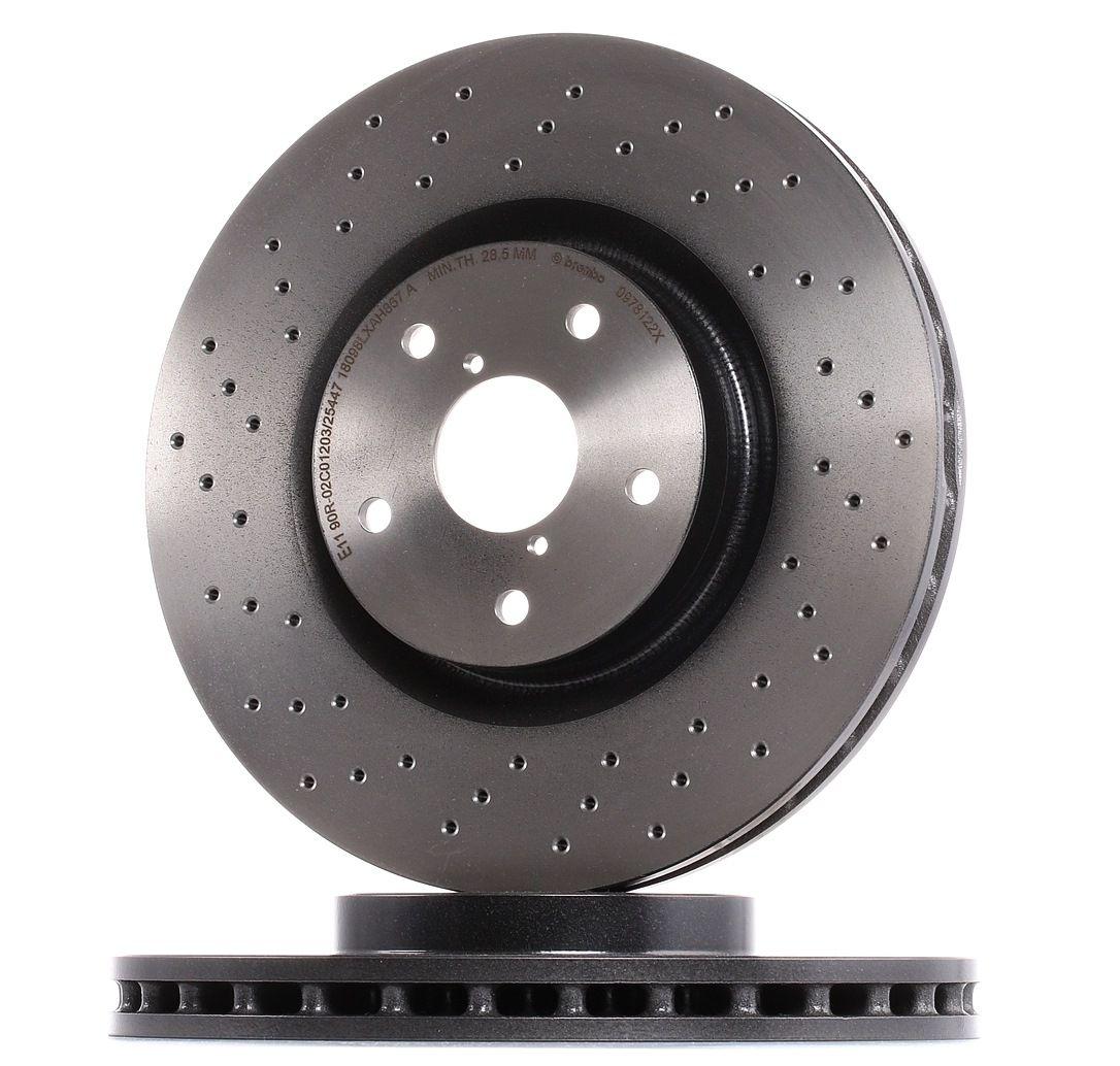 BREMBO: Original Bremsscheiben 09.7812.2X (Ø: 326mm, Lochanzahl: 5, Bremsscheibendicke: 30mm)
