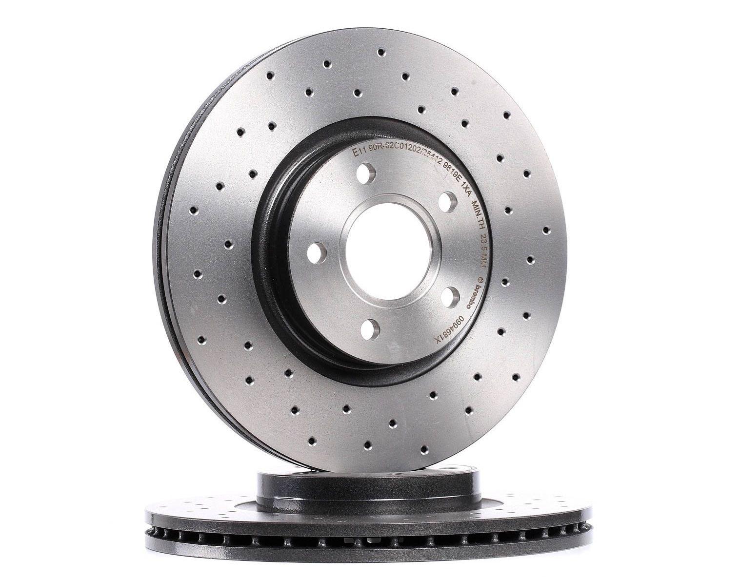 Buy Brake discs BREMBO 09.9468.1X Ø: 300mm, Num. of holes: 5, Brake Disc Thickness: 25mm