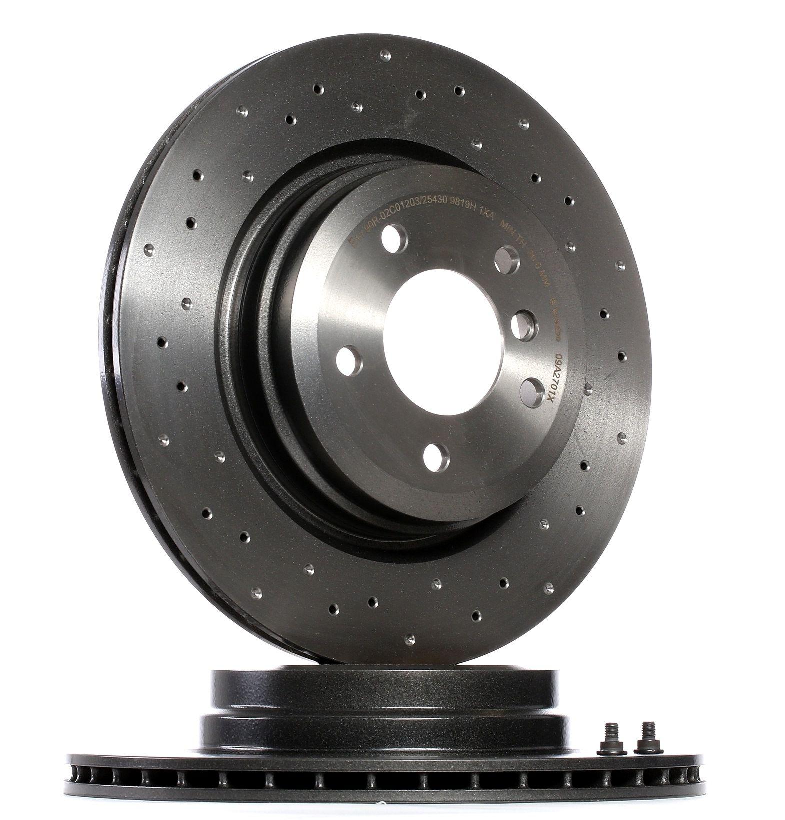 Origine Freinage BREMBO 09.A270.1X (Ø: 336mm, Nbre de trous: 5, Épaisseur du disque de frein: 22mm)