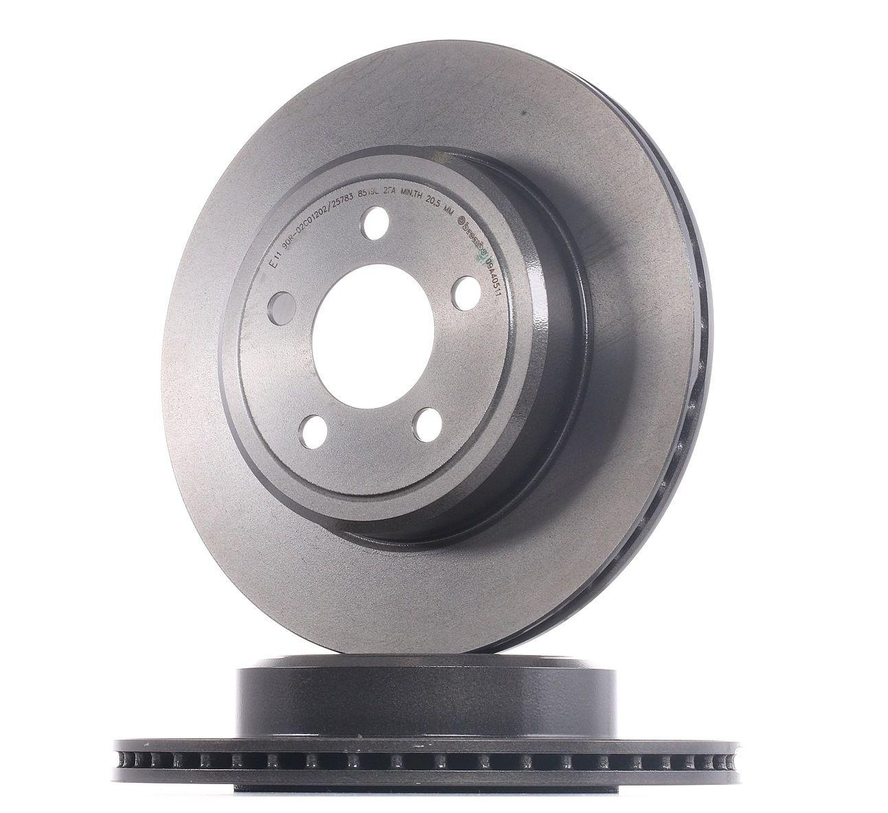Comprare 09.A405.11 BREMBO COATED DISC LINE Autoventilato, rivestito Ø: 320mm, N° fori: 5, Spessore disco freno: 22mm Disco freno 09.A405.11 poco costoso