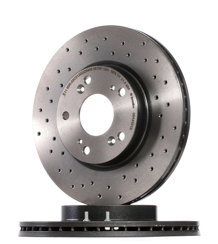 Buy Brake rotors kit BREMBO 09.A455.1X Ø: 282mm, Num. of holes: 5, Brake Disc Thickness: 23mm