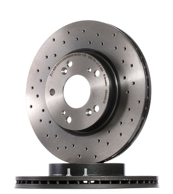 09.A455.1X BREMBO BREMBO XTRA LINE Perforated / Vented, Coated, with screws Ø: 282mm, Num. of holes: 5, Brake Disc Thickness: 23mm Brake Disc 09.A455.1X cheap