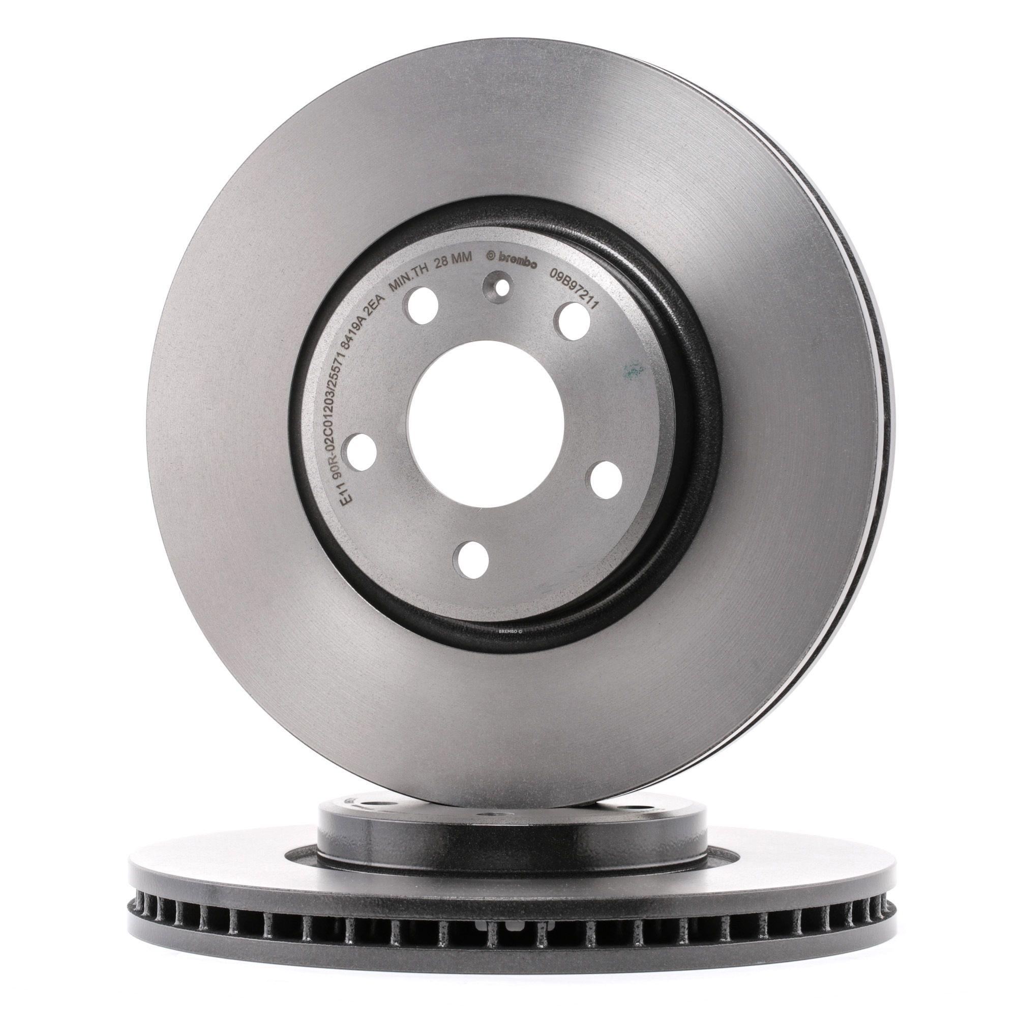 Achetez Disques de frein BREMBO 09.B972.11 (Ø: 320mm, Nbre de trous: 5, Épaisseur du disque de frein: 30mm) à un rapport qualité-prix exceptionnel