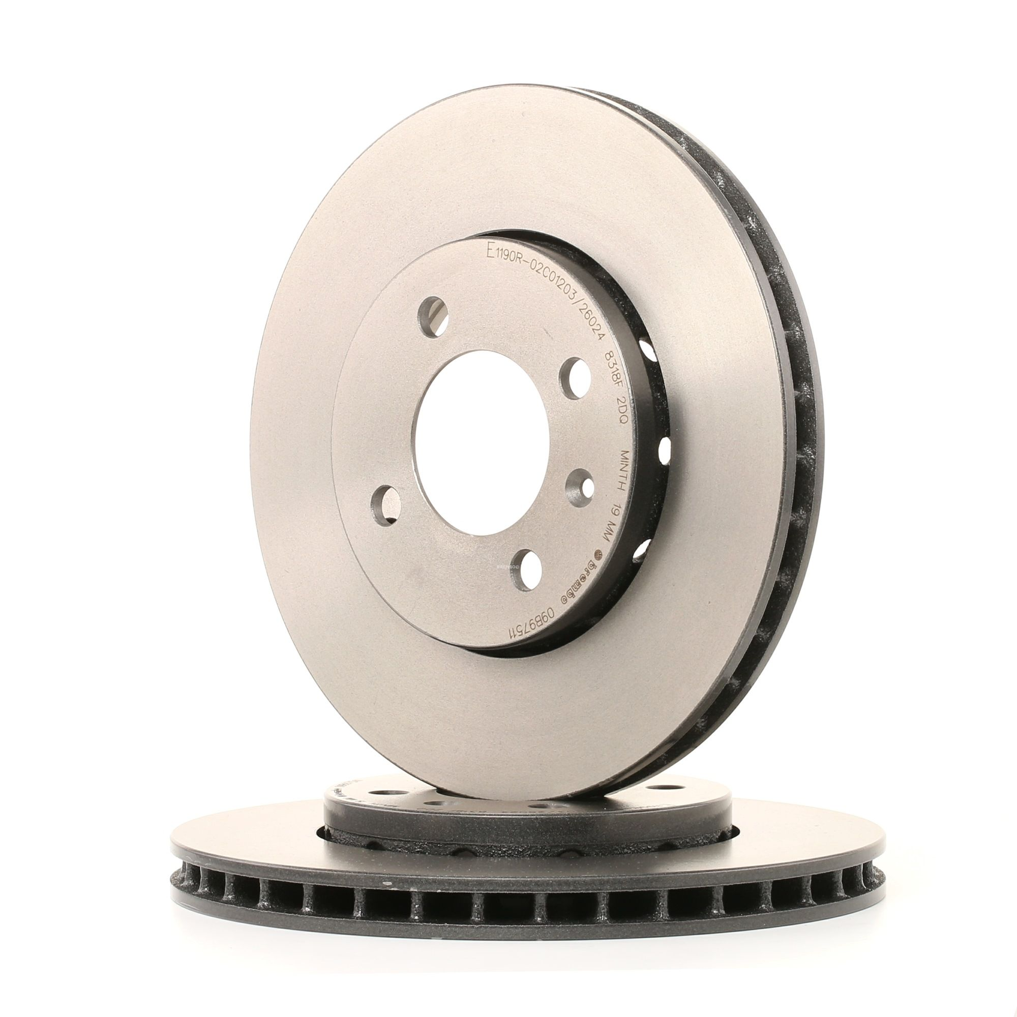 Achetez Disque de frein BREMBO 09.B975.11 (Ø: 256mm, Nbre de trous: 4, Épaisseur du disque de frein: 22mm) à un rapport qualité-prix exceptionnel
