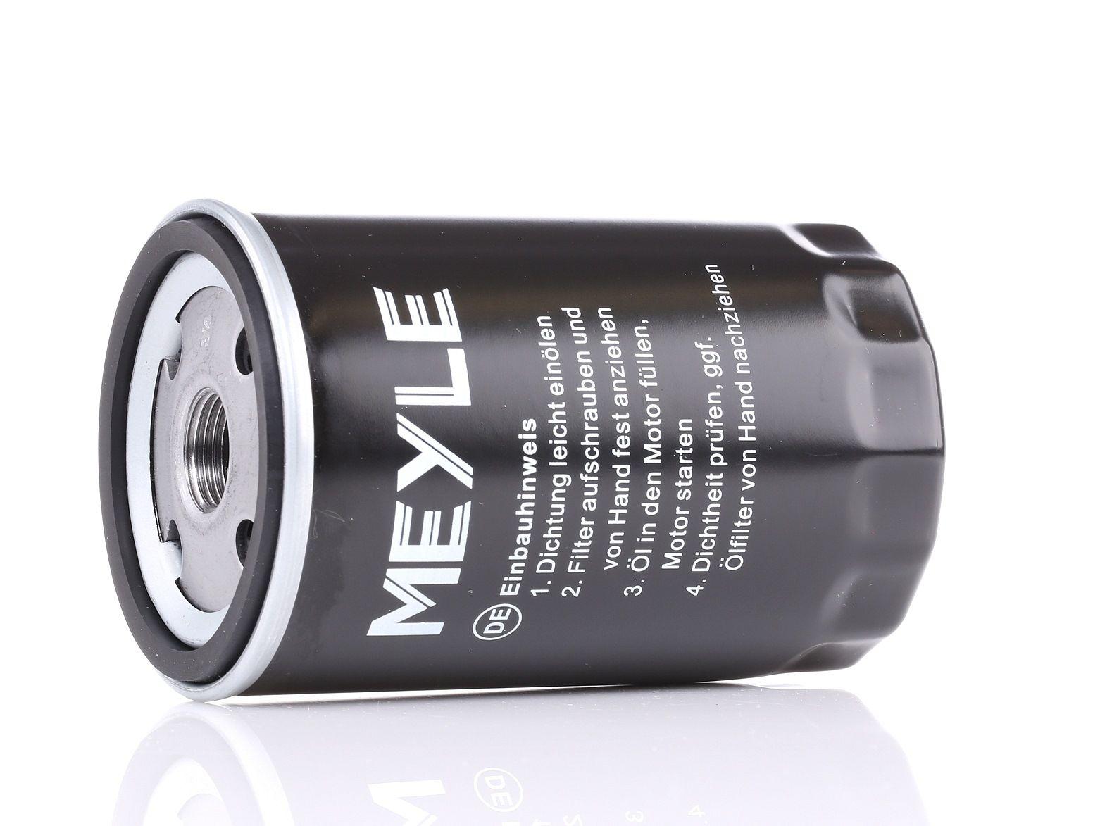 Achetez Filtre à huile MEYLE 100 115 0001 (Ø: 76mm, Ø: 76mm, Hauteur: 118,5mm) à un rapport qualité-prix exceptionnel