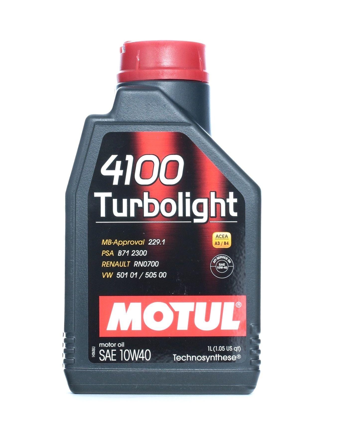 4100TURBOLIGHT10W40 MOTUL TURBOLIGHT 10W-40, 1l, Teilsynthetiköl Motoröl 102774 günstig kaufen