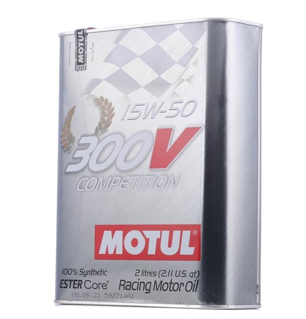 Achat de 300VCOMPETITION15W50 MOTUL 300V, COMPETITION 15W-50, 2I, Huile synthétique Huile moteur 104244 pas chères