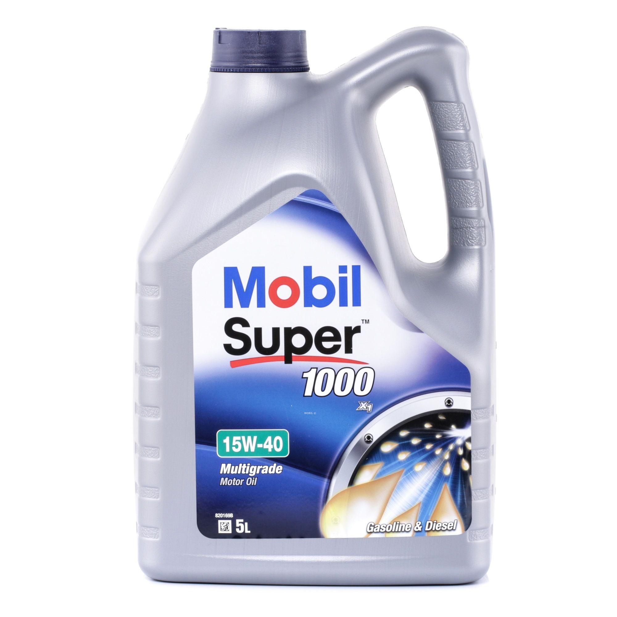 Motorove oleje 150867 s vynikajícím poměrem mezi cenou a MOBIL kvalitou