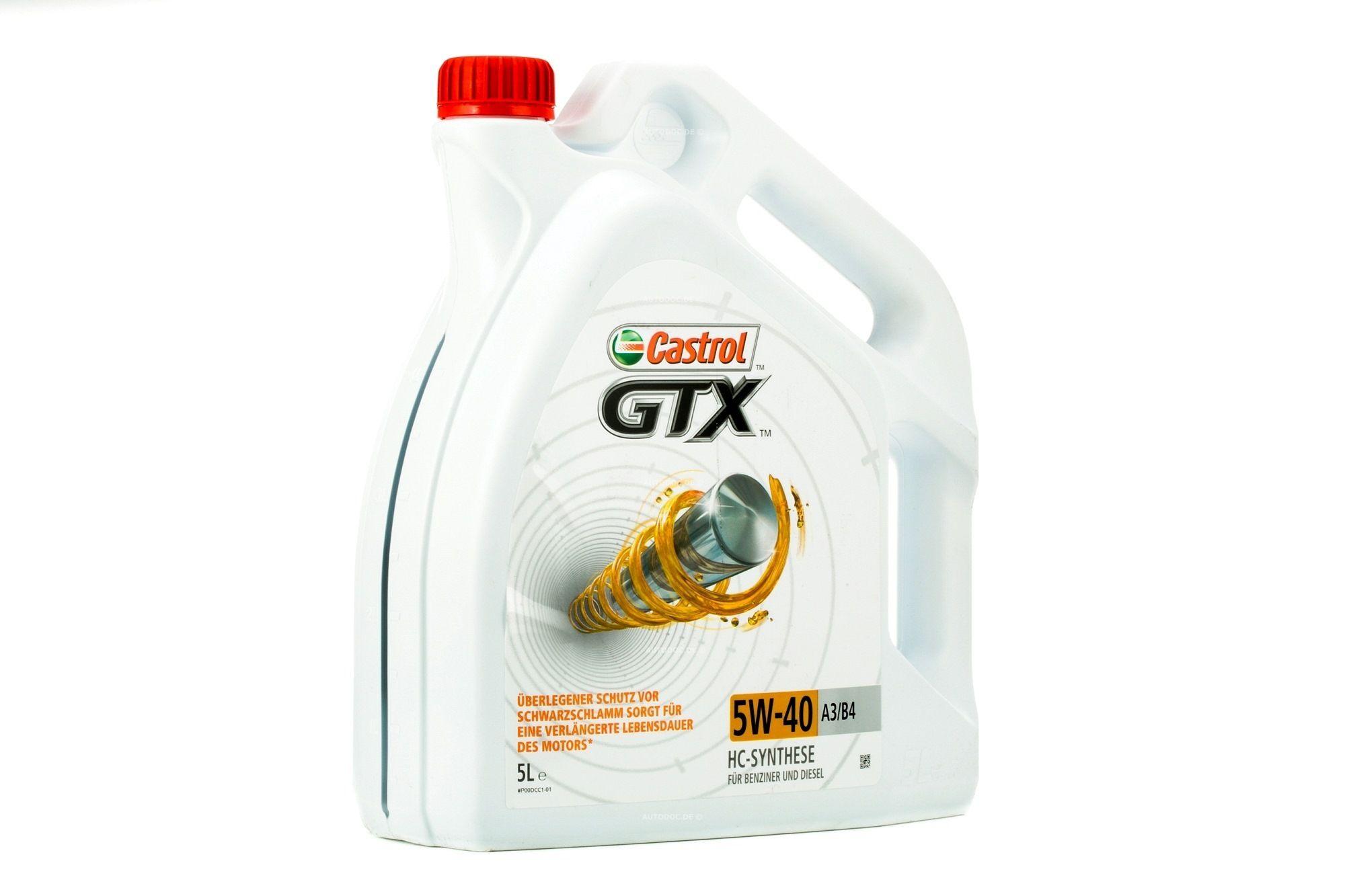 Comprare A3B4 CASTROL GTX, A3/B4 5W-40, 5l Olio motore 15218F poco costoso