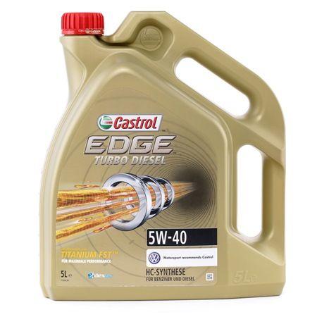 dexos2? CASTROL Turbo Diesel, EDGE TITANIUM FST 5W-40, 5l, Vollsynthetiköl Motoröl 1535BC günstig kaufen