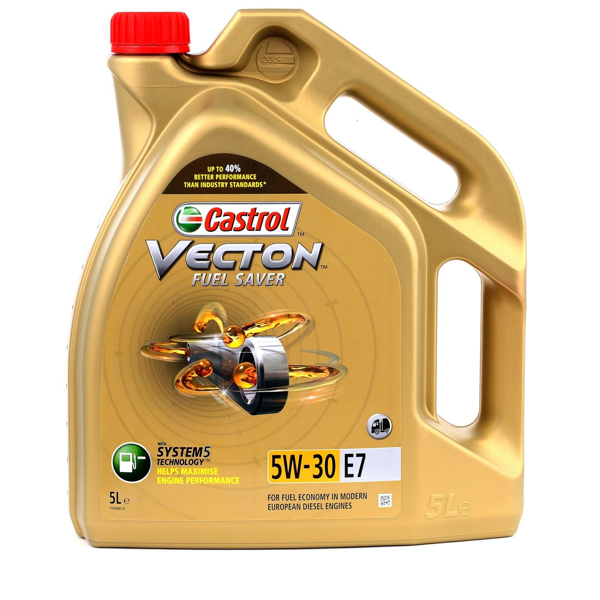 Køb ACEADieselE7 CASTROL Vecton, Fuel Saver E7 5W-30, 5l Motorolie 154C31 billige