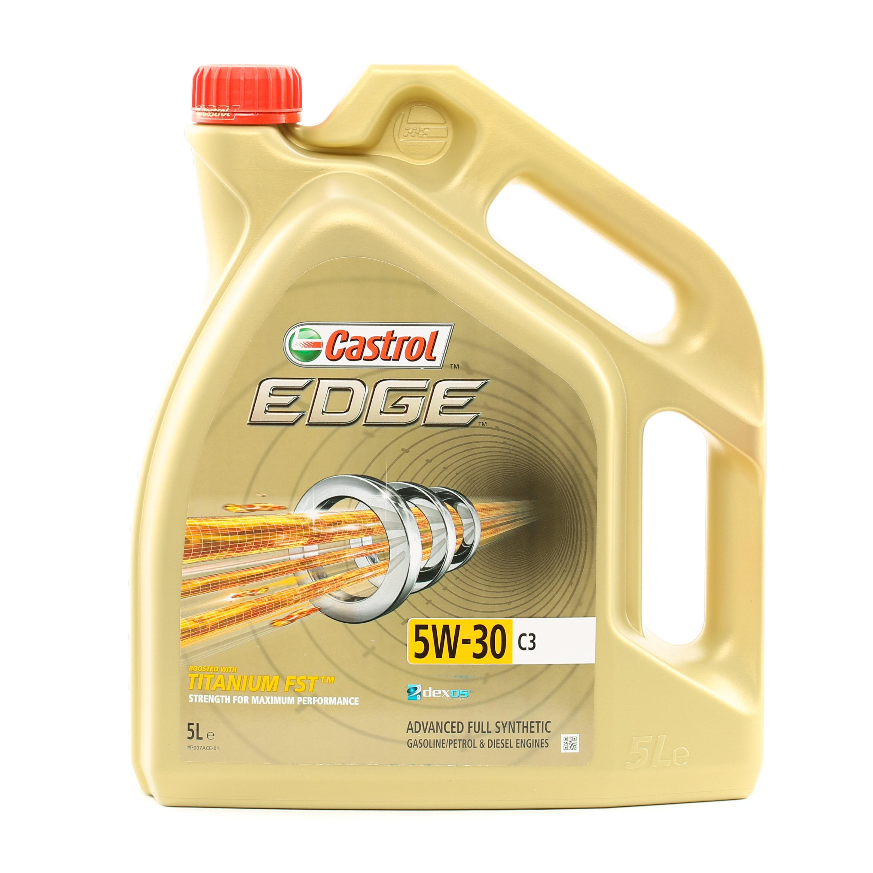 Achat de VW50501 CASTROL EDGE, C3 5W-30, 5I, Huile entièrement synthétique Huile moteur 1552FC pas chères