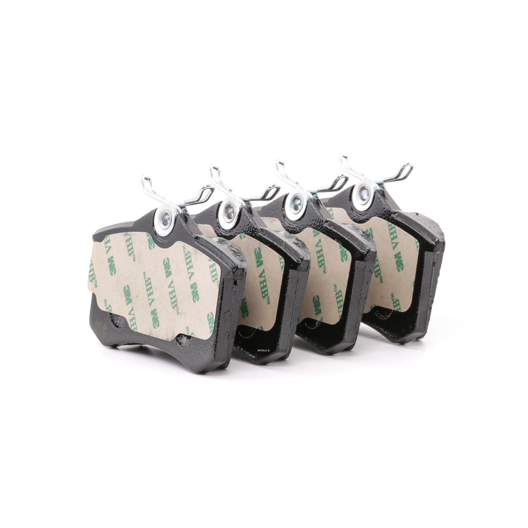 20961 METELLI exkl. Verschleißwarnkontakt, nicht für Verschleißwarnanzeiger vorbereitet Dicke/Stärke 1: 16,0mm Bremsbelagsatz, Scheibenbremse 22-0100-2 günstig kaufen