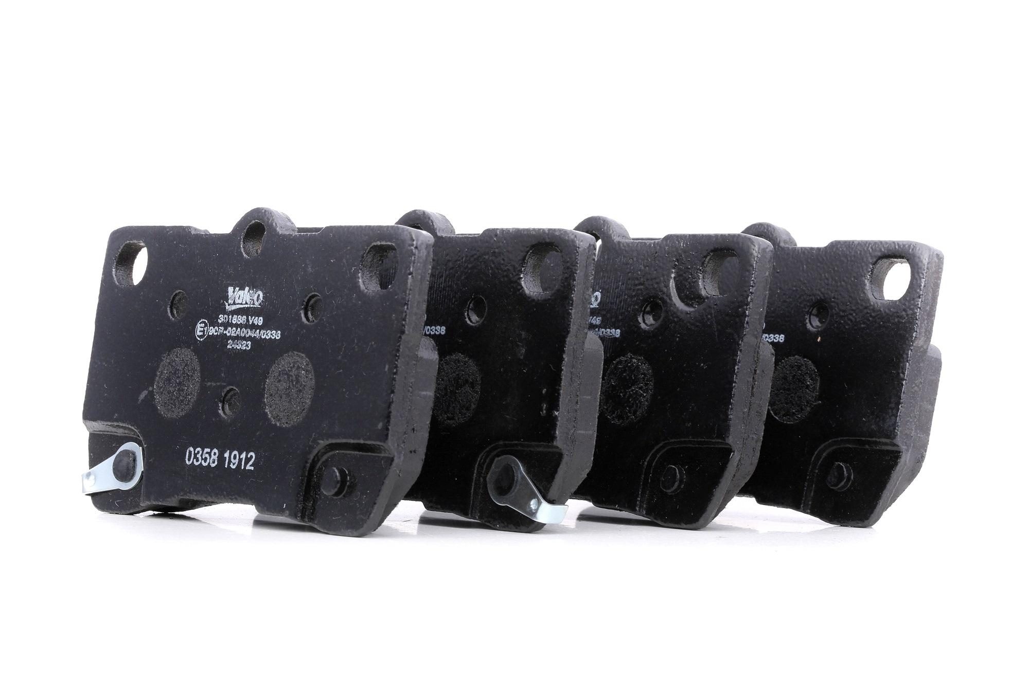 LEXUS GS 2018 Bremssteine - Original VALEO 301888 Höhe: 58,2mm, Breite: 88,4mm, Dicke/Stärke: 15,5mm