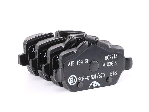 23624 ATE für Verschleißwarnanzeiger vorbereitet, exkl. Verschleißwarnkontakt, mit Bremssattelschrauben, mit Zubehör Höhe 1: 51,0mm, Höhe 2: 44,6mm, Breite 1: 95,2mm, Dicke/Stärke: 17,4mm Bremsbelagsatz, Scheibenbremse 13.0460-2713.2 günstig kaufen