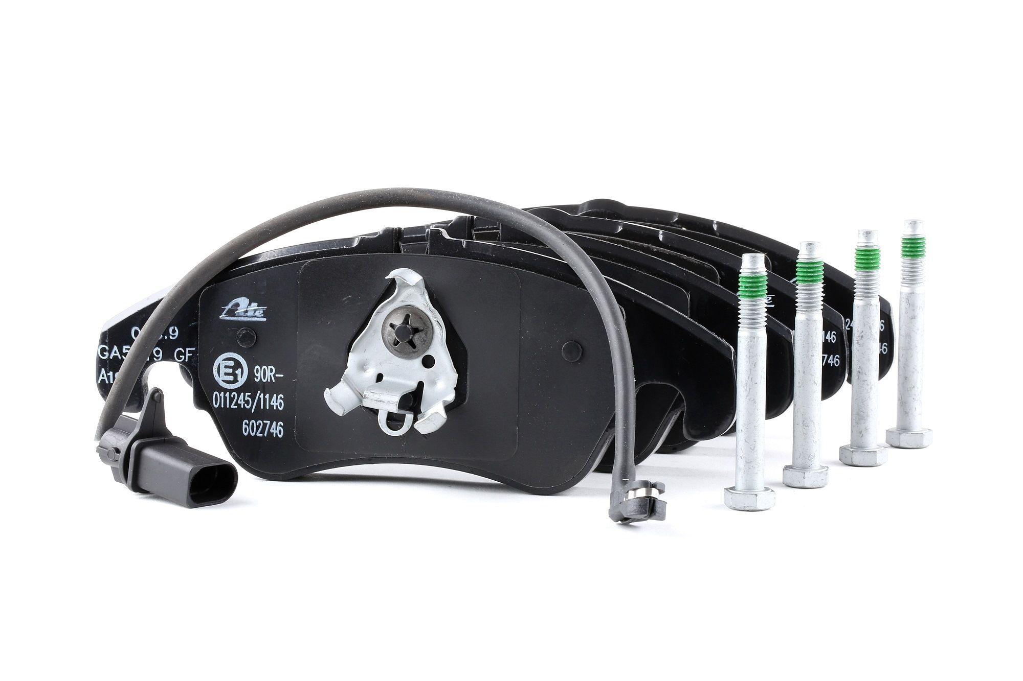 AUDI A4 2014 Bremsbelagsatz - Original ATE 13.0460-2746.2 Höhe 2: 73,0mm, Höhe: 73,5mm, Breite: 188,0mm, Dicke/Stärke: 19,2mm