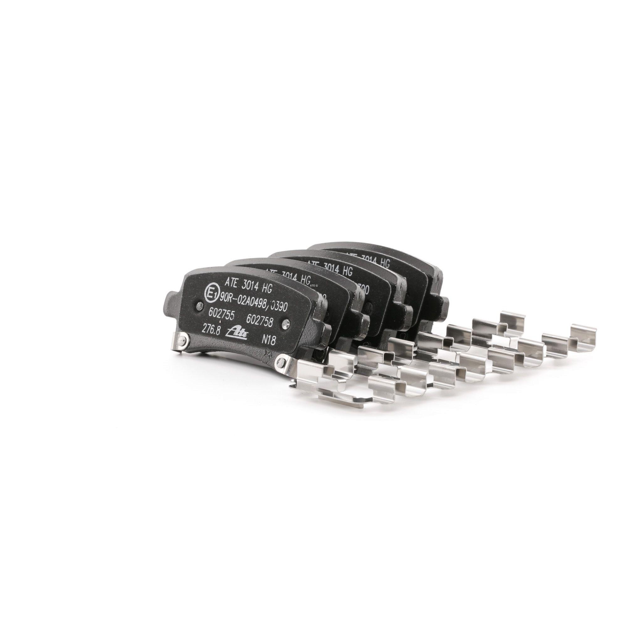 ATE: Original Bremsbeläge 13.0460-2755.2 (Höhe: 47,1mm, Breite: 106,3mm, Dicke/Stärke: 17,2mm)