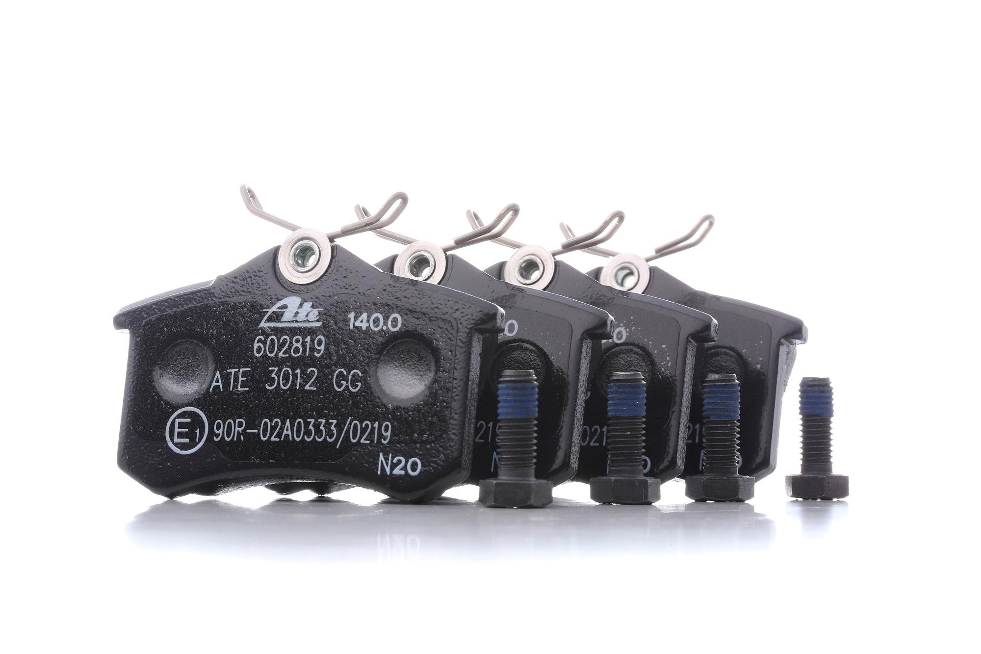 ATE: Original Bremsklötze 13.0460-2819.2 (Höhe: 52,9mm, Breite: 87,6mm, Dicke/Stärke: 17,2mm)
