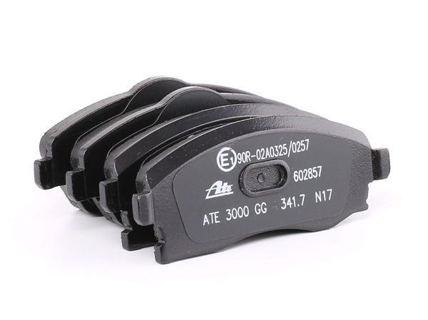 ATE: Original Scheibenbremsbeläge 13.0460-2857.2 (Höhe 1: 52,3mm, Höhe 2: 55,4mm, Breite: 131,5mm, Dicke/Stärke: 17,0mm) mit vorteilhaften Preis-Leistungs-Verhältnis