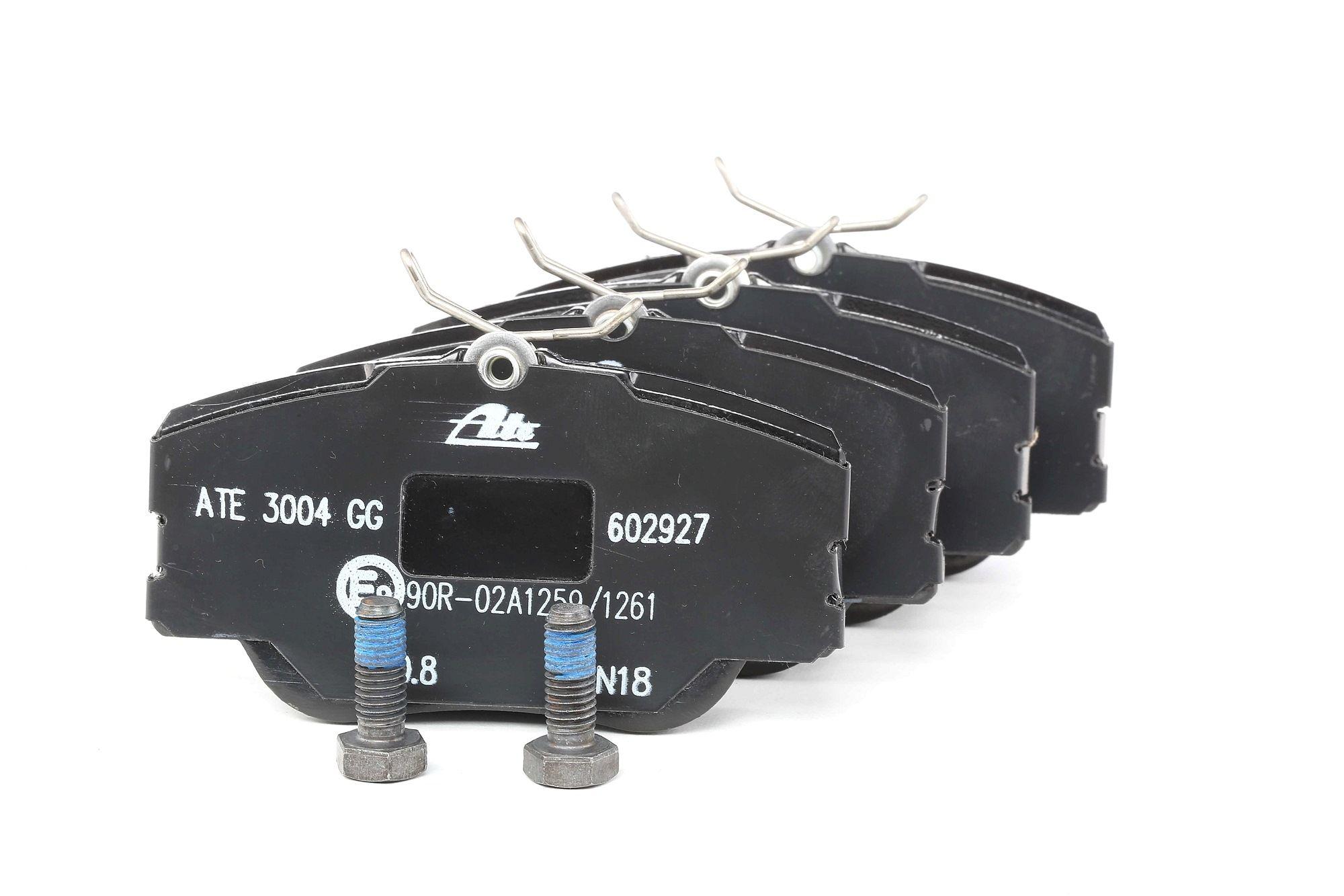 MERCEDES-BENZ Baureihe 124 1991 Scheibenbremsbeläge - Original ATE 13.0460-2927.2 Höhe: 59,6mm, Breite: 110,0mm, Dicke/Stärke: 19,3mm