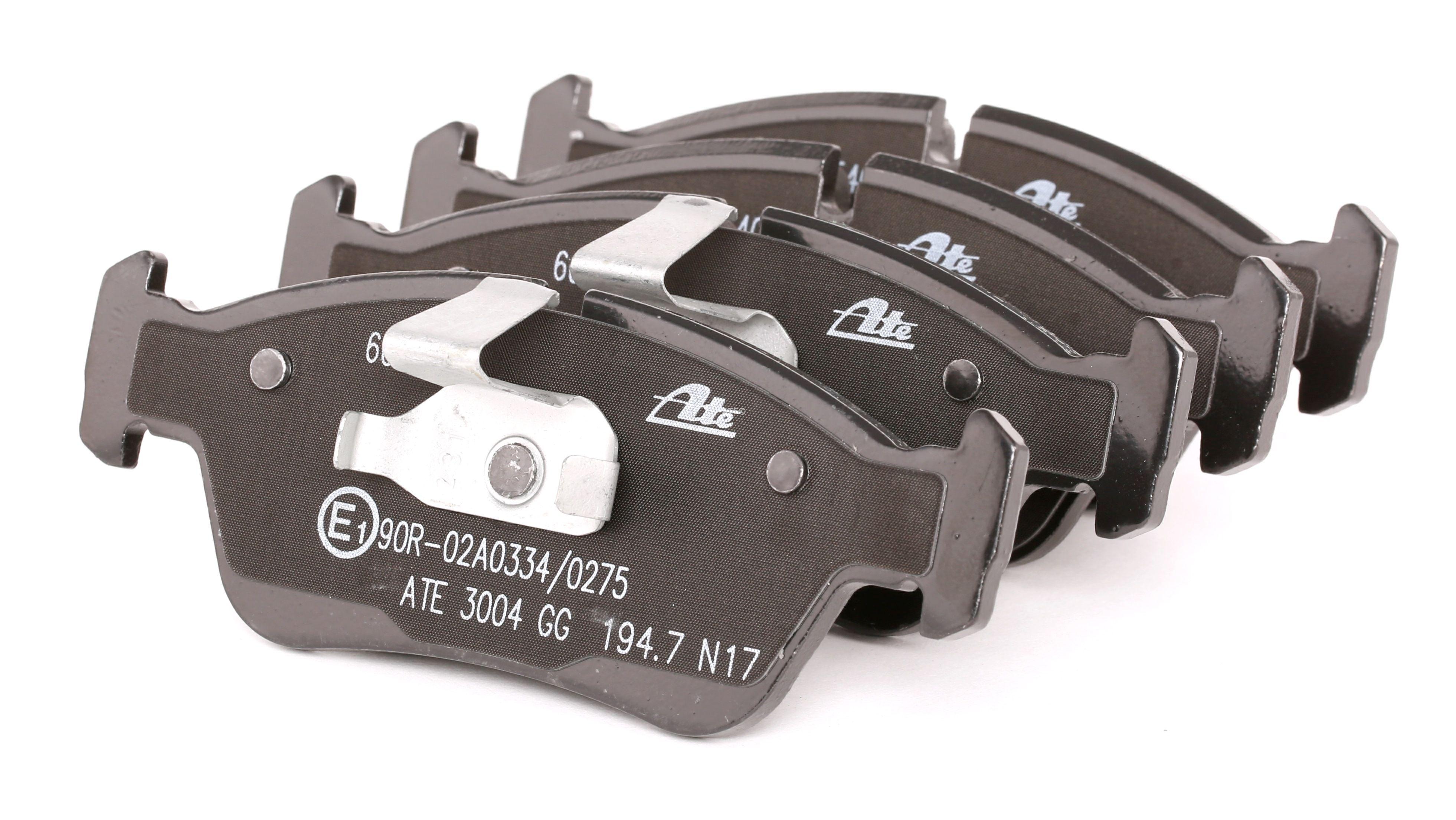 Bremsbelagsatz BMW E36 Compact hinten + vorne 1999 - ATE 13.0460-5405.2 (Höhe: 57,3mm, Breite 1: 150,1mm, Breite 2: 151,3mm, Dicke/Stärke: 17,8mm)