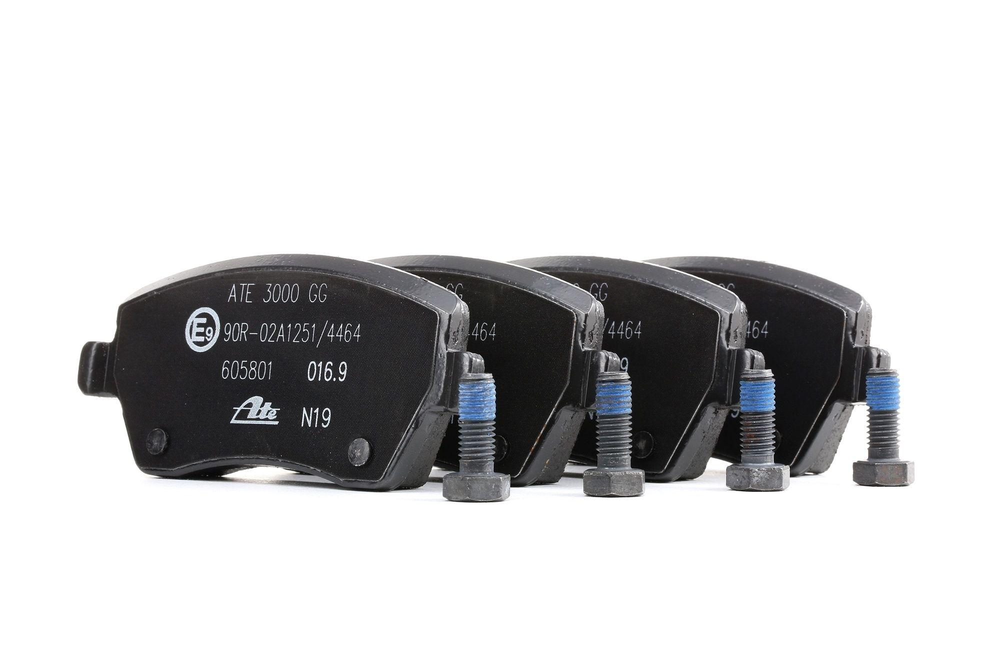 23973 ATE nicht für Verschleißwarnanzeiger vorbereitet, exkl. Verschleißwarnkontakt, mit Bremssattelschrauben Höhe: 52,4mm, Breite: 116,3mm, Dicke/Stärke: 17,1mm Bremsbelagsatz, Scheibenbremse 13.0460-5801.2 günstig kaufen