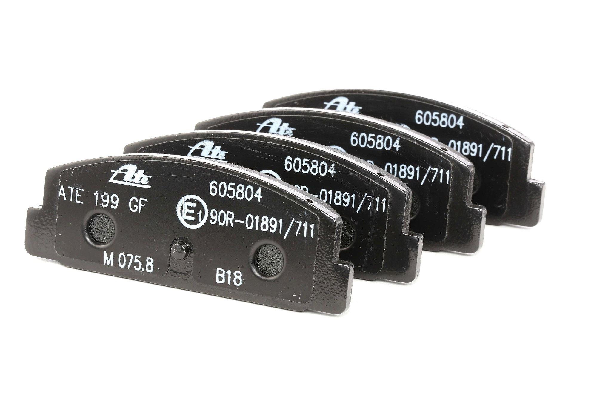 ATE: Original Bremssteine 13.0460-5804.2 (Höhe: 39,4mm, Breite: 107,7mm, Dicke/Stärke: 13,7mm)