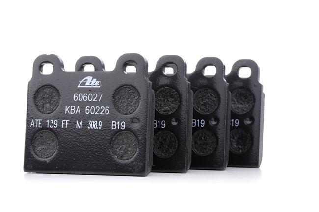 ATE: Original Bremssteine 13.0460-6027.2 (Höhe: 70,0mm, Breite: 76,8mm, Dicke/Stärke: 15,0mm)
