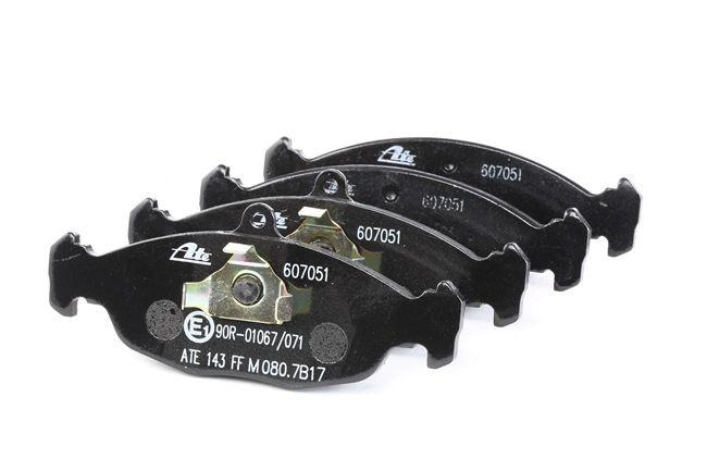 ATE: Original Bremsbeläge 13.0460-7051.2 (Höhe 1: 48,4mm, Höhe 2: 58,3mm, Breite 1: 141,2mm, Breite 2: 140,0mm, Dicke/Stärke: 16,5mm)