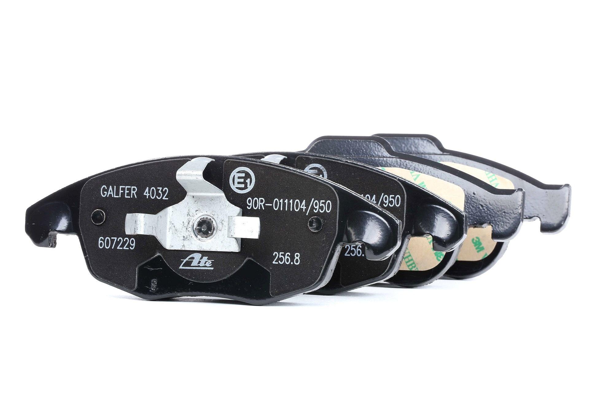 ATE: Original Bremsklötze 13.0460-7229.2 (Höhe 1: 64,7mm, Höhe 2: 58,3mm, Breite 1: 155,1mm, Breite 2: 155,1mm, Dicke/Stärke 1: 18,5mm, Dicke/Stärke 2: 18,5mm)
