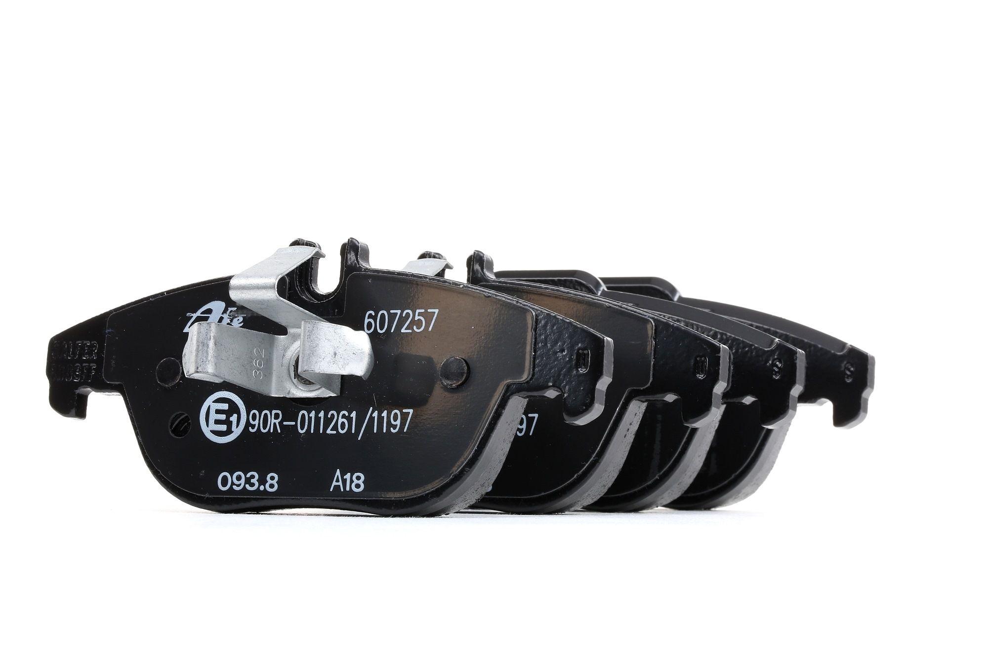 MERCEDES-BENZ GLK 2015 Bremsklötze - Original ATE 13.0460-7257.2 Höhe 1: 52,3mm, Höhe 2: 54,4mm, Breite 1: 122,5mm, Breite 2: 122,5mm, Dicke/Stärke: 18,0mm