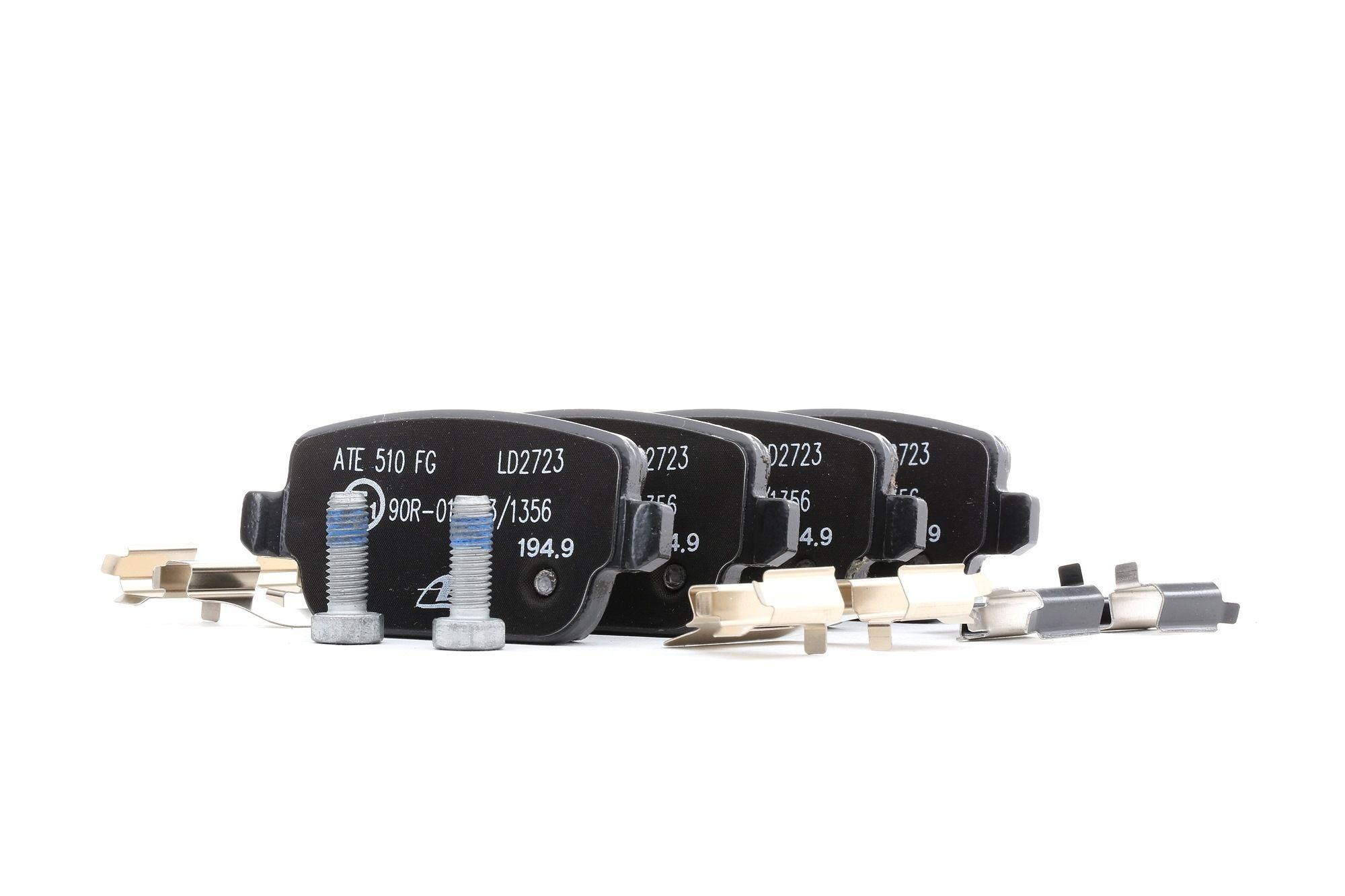 FORD KUGA 2020 Bremsbelagsatz - Original ATE 13.0470-2723.2 Höhe: 43,2mm, Breite: 95,1mm, Dicke/Stärke: 16,1mm