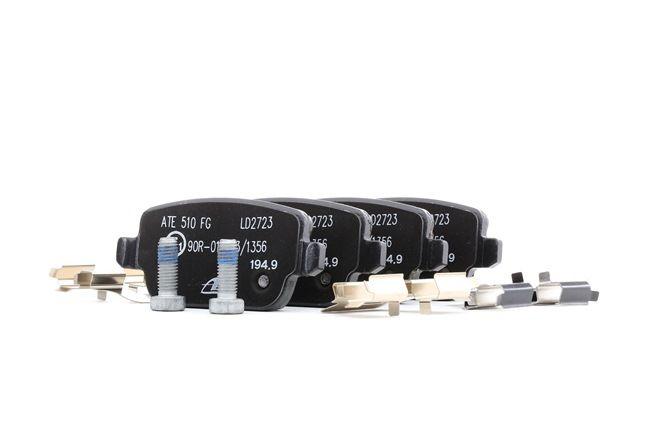 ATE: Original Bremsbelagsatz 13.0470-2723.2 (Höhe: 43,2mm, Breite: 95,1mm, Dicke/Stärke: 16,1mm) mit vorteilhaften Preis-Leistungs-Verhältnis
