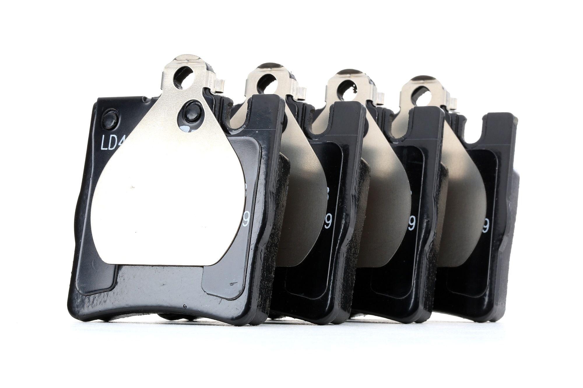 21899 ATE Ceramic für Verschleißwarnanzeiger vorbereitet, exkl. Verschleißwarnkontakt, mit Zubehör Höhe: 78,0mm, Breite: 63,7mm, Dicke/Stärke: 15,3mm Bremsbelagsatz, Scheibenbremse 13.0470-4065.2 günstig kaufen