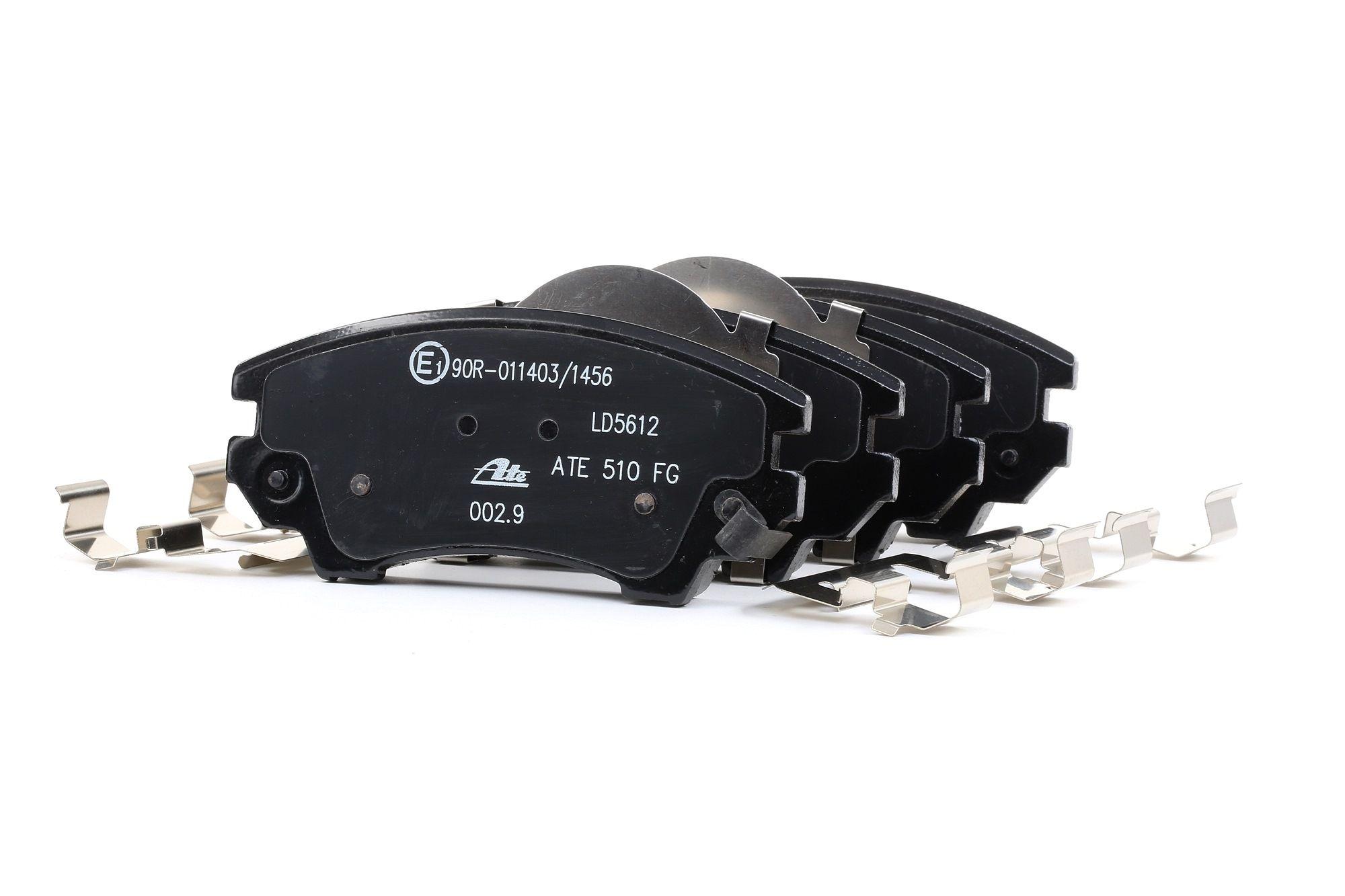 ATE: Original Bremsbelagsatz 13.0470-5612.2 (Höhe: 66,7mm, Breite: 141,9mm, Dicke/Stärke: 19,0mm)