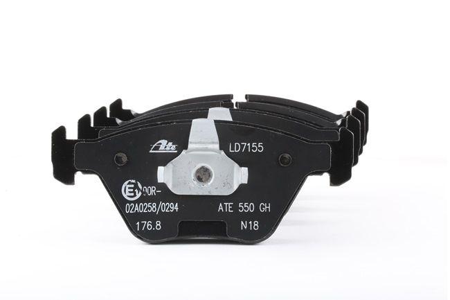 ATE: Original Scheibenbremsbeläge 13.0470-7155.2 (Höhe: 63,5mm, Breite 1: 155,1mm, Breite 2: 156,3mm, Dicke/Stärke: 20,3mm) mit vorteilhaften Preis-Leistungs-Verhältnis