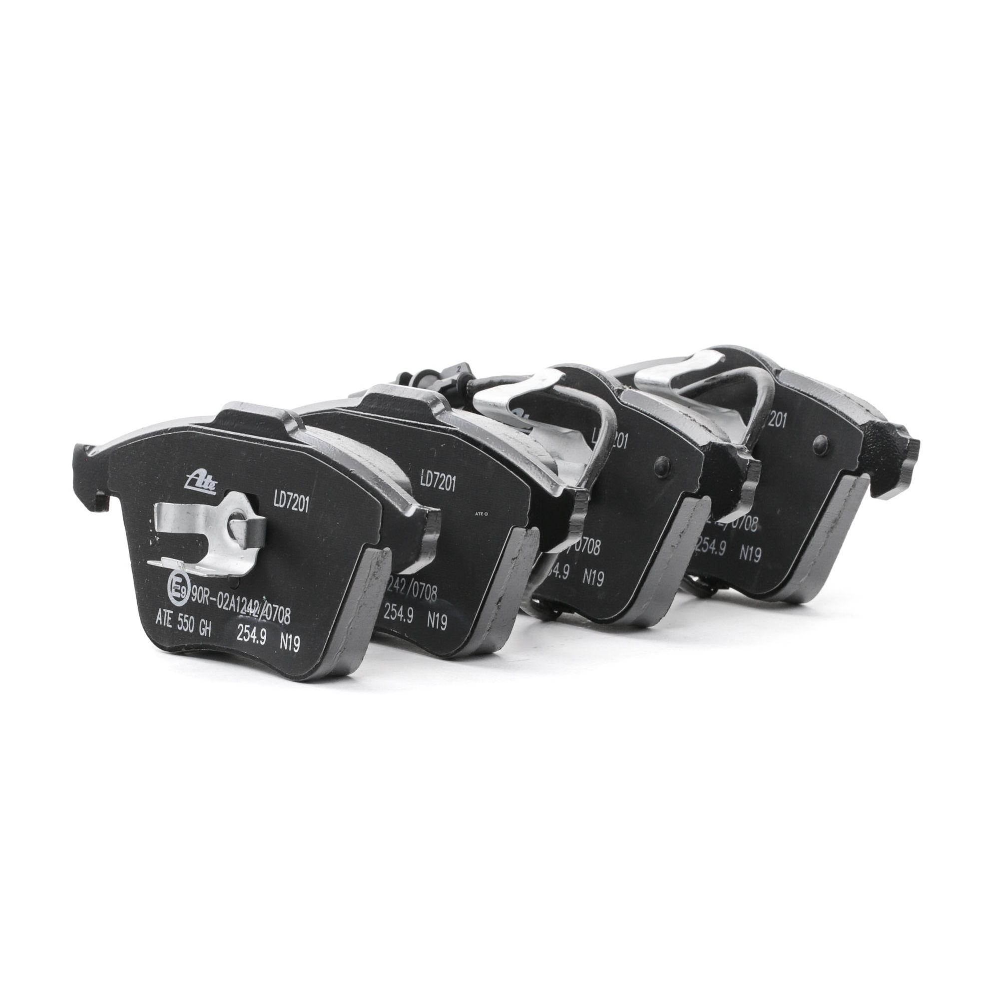 AUDI A6 2015 Bremsklötze - Original ATE 13.0470-7201.2 Höhe 1: 155,1mm, Höhe 2: 156,3mm, Breite 1: 72,9mm, Breite 2: 72,9mm, Dicke/Stärke: 20,3mm