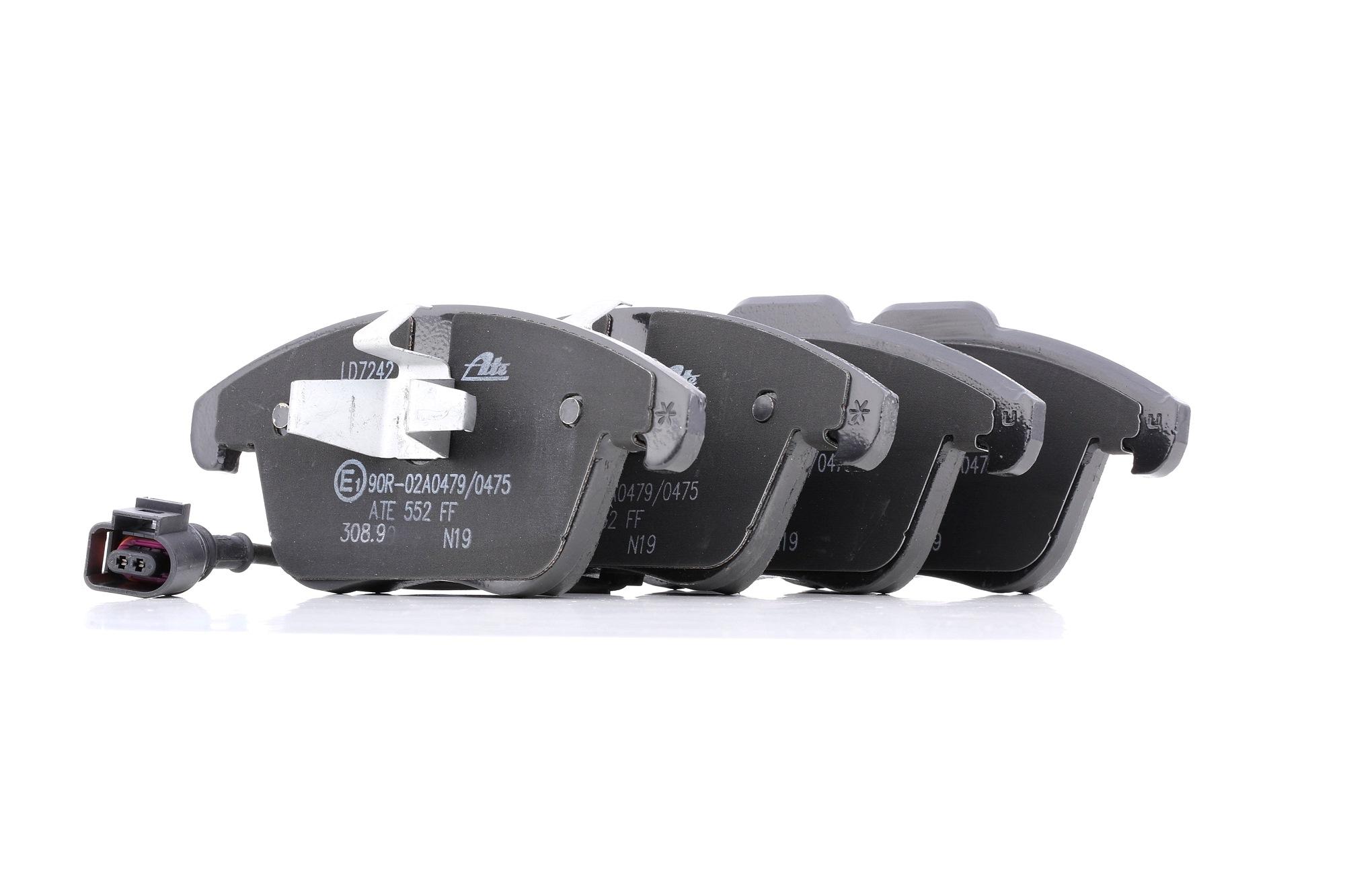 VW TIGUAN 2013 Tuning - Original ATE 13.0470-7242.2 Höhe 1: 72,0mm, Höhe 2: 67,0mm, Breite 1: 155,1mm, Breite 2: 155,1mm, Dicke/Stärke 1: 19,8mm, Dicke/Stärke 2: 21,3mm