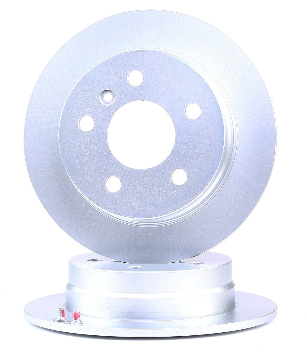 408113 ATE Voll, beschichtet, mit Schrauben Ø: 258,0mm, Lochanzahl: 5, Bremsscheibendicke: 8,0mm Bremsscheibe 24.0108-0113.1 günstig kaufen