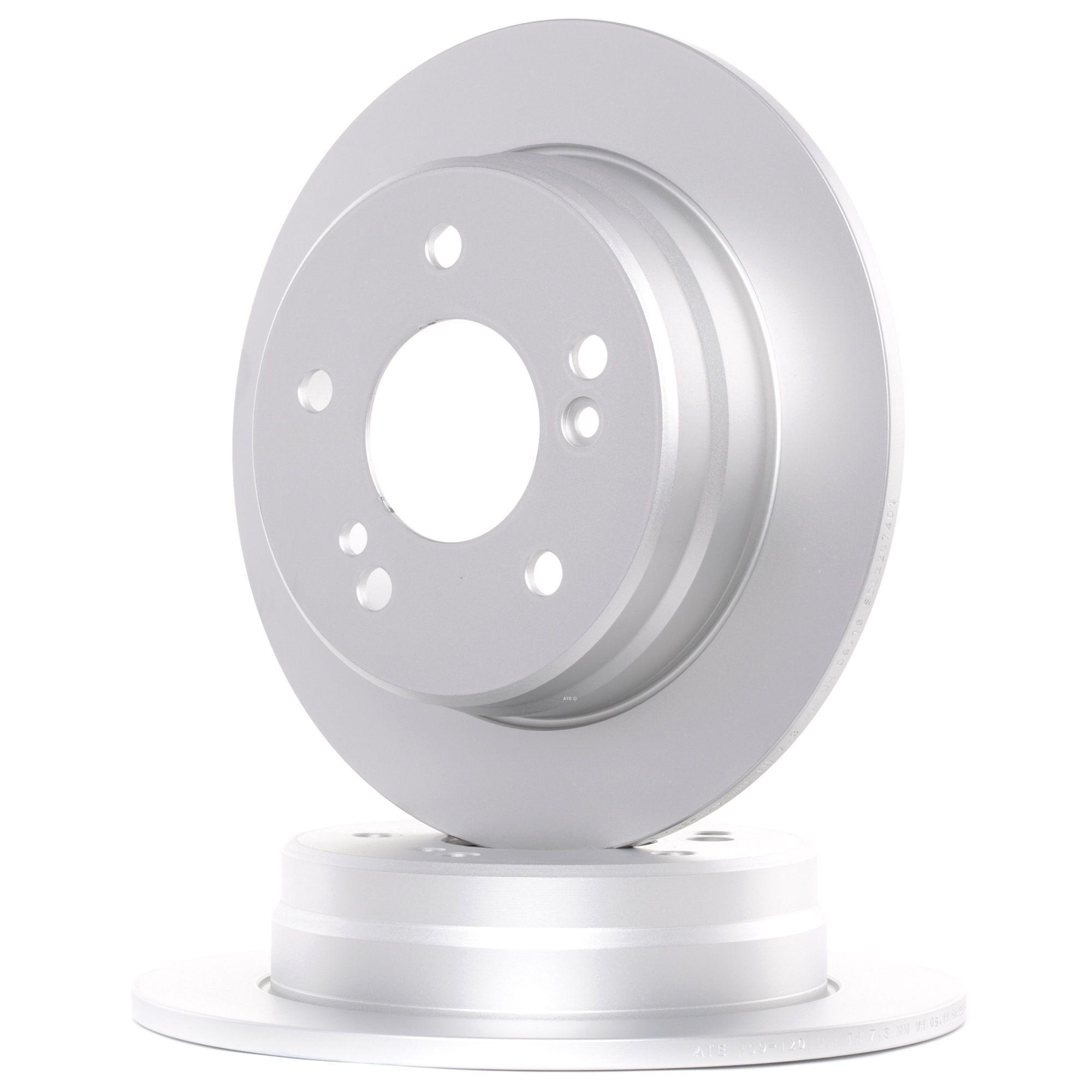 ATE: Original Bremsscheibe 24.0109-0120.1 (Ø: 258,0mm, Lochanzahl: 5, Bremsscheibendicke: 9,0mm)