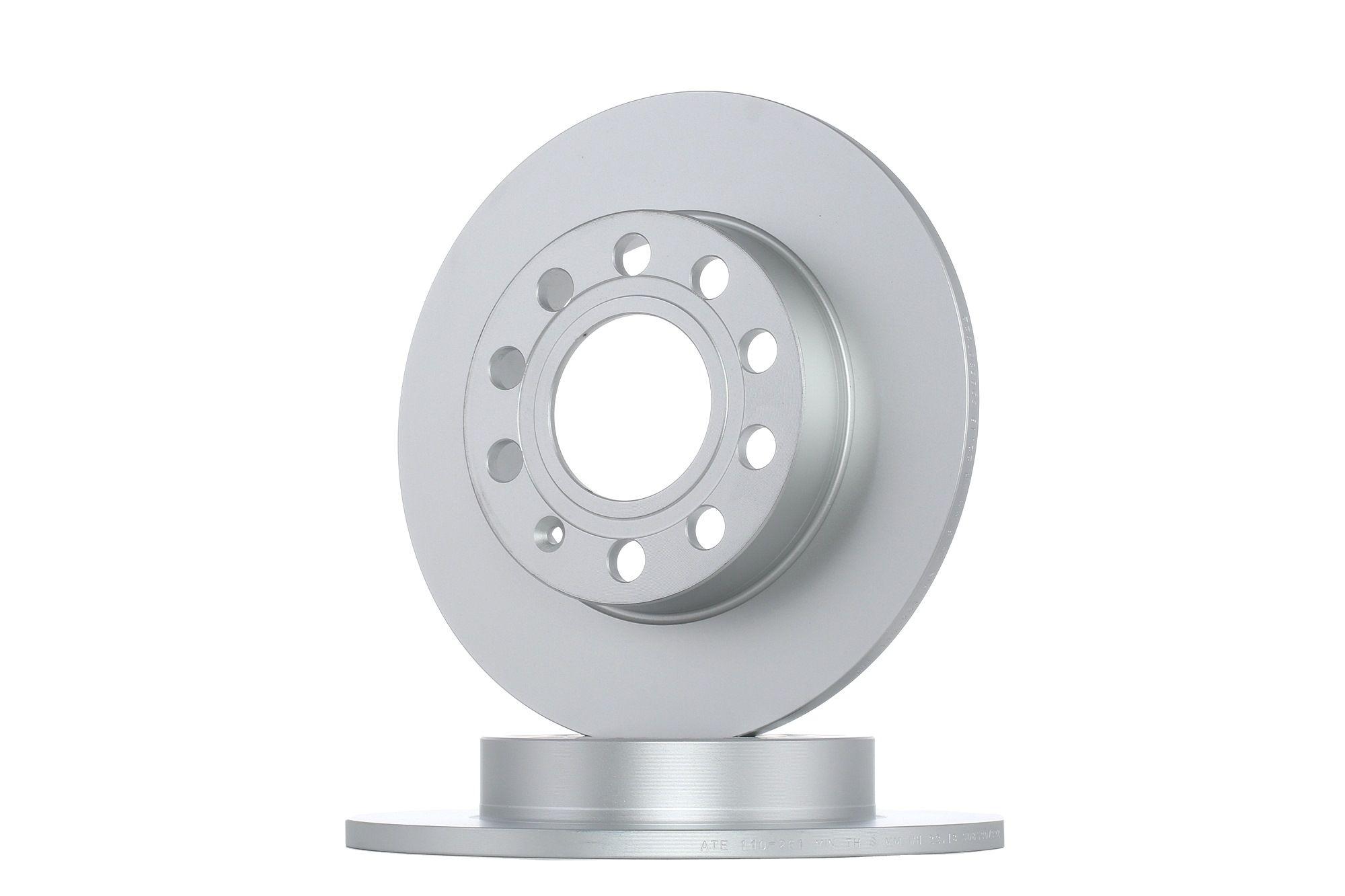 410261 ATE Voll, beschichtet, mit Schrauben Ø: 245,0mm, Lochanzahl: 5, Bremsscheibendicke: 10,0mm Bremsscheibe 24.0110-0261.1 günstig kaufen