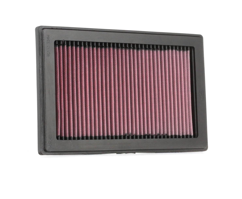 33-3034 K&N Filters Langzeitfilter Länge: 274mm, Länge: 274mm, Breite: 173mm, Höhe: 25mm Luftfilter 33-3034 günstig kaufen