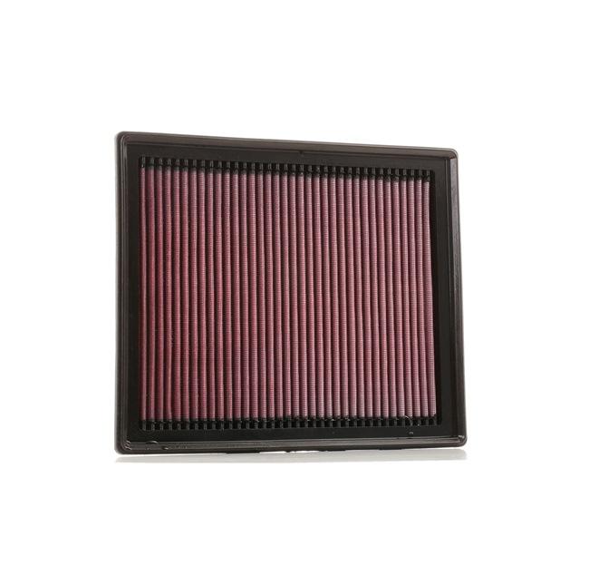 K&N Filters: Original Motorluftfilter 33-3035 (Länge: 283mm, Breite: 232mm, Höhe: 31mm) mit vorteilhaften Preis-Leistungs-Verhältnis