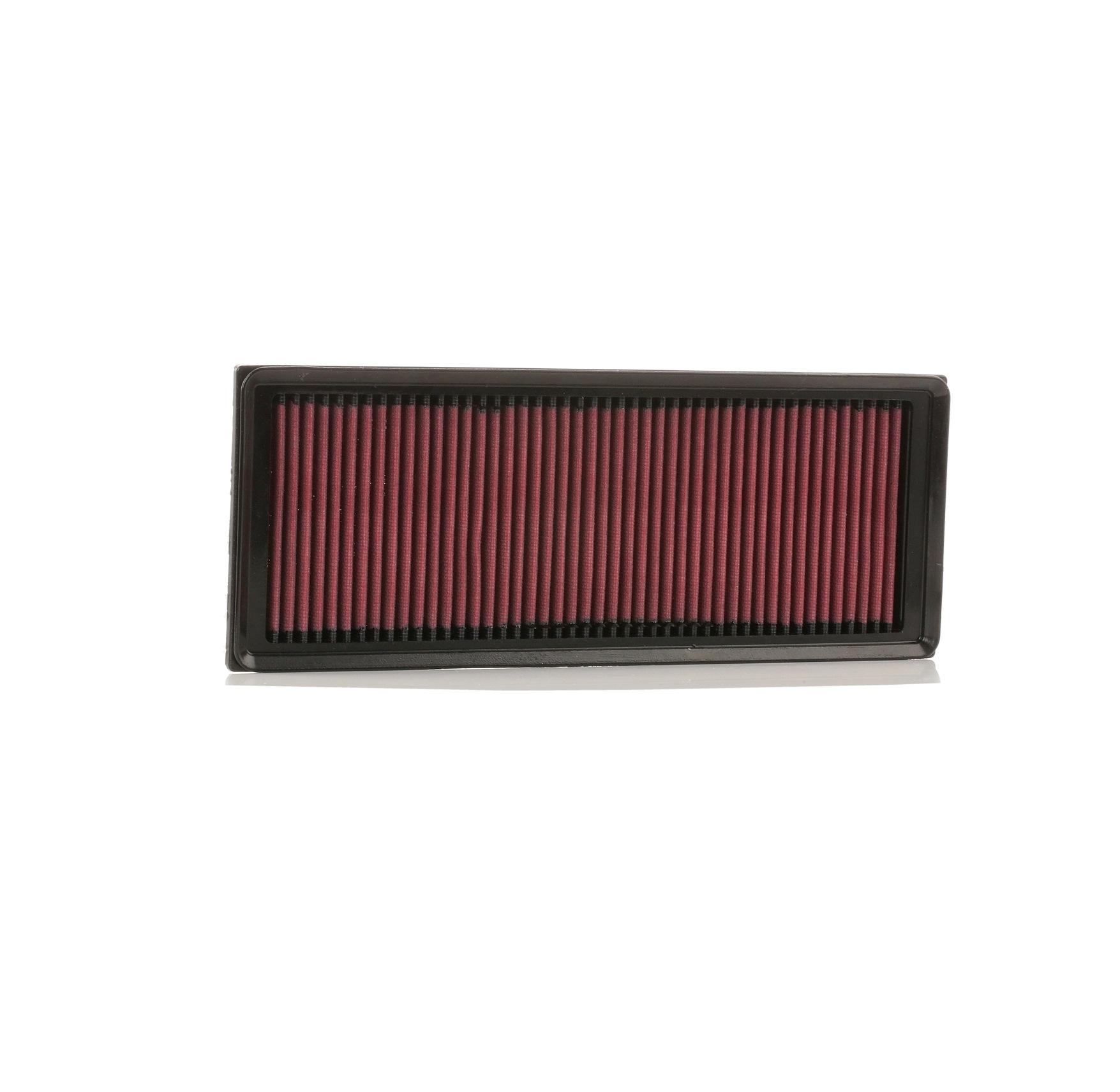 K&N Filters: Original Luftfiltereinsatz 33-3039 (Länge: 349mm, Länge: 349mm, Breite: 135mm, Höhe: 30mm)