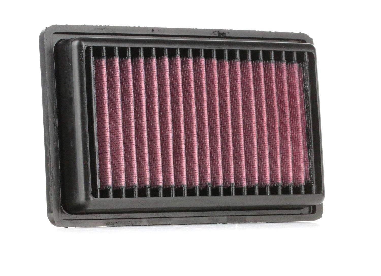 RENAULT 8 1970 Motorluftfilter - Original K&N Filters 33-3043 Länge: 213mm, Länge: 213mm, Breite: 133mm, Höhe: 32mm