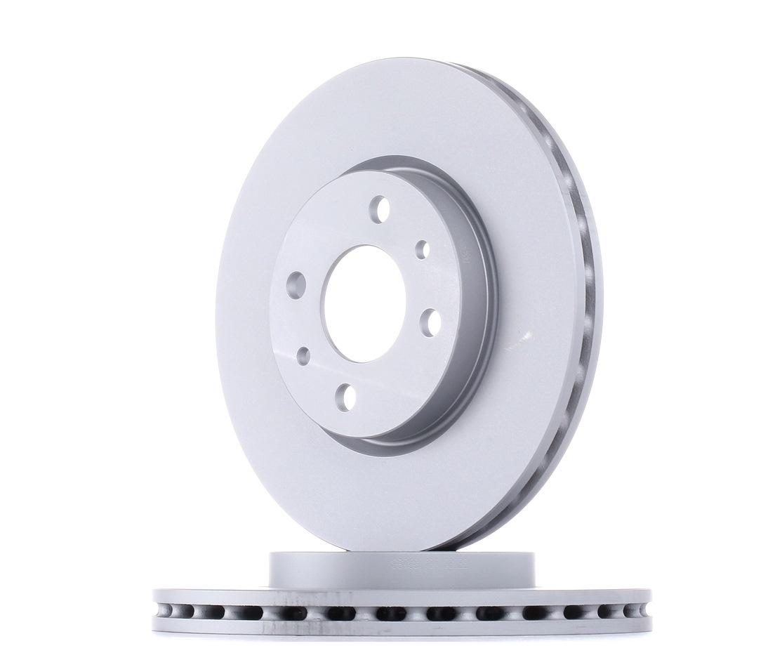ATE: Original Bremsscheiben 24.0122-0197.1 (Ø: 257,5mm, Lochanzahl: 4, Bremsscheibendicke: 22,0mm)