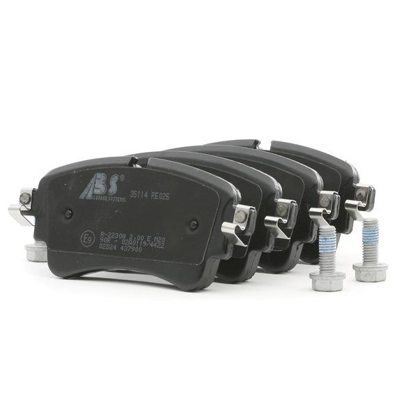 Bremsbelagsatz, Scheibenbremse 35114 — aktuelle Top OE 8W0698451F Ersatzteile-Angebote