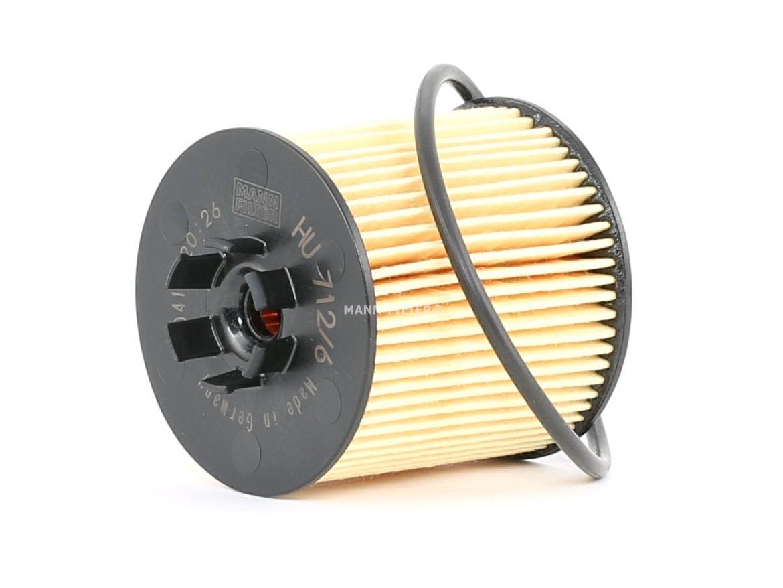 Alyvos filtras HU 712/6 x su puikiu MANN-FILTER kainos/kokybės santykiu