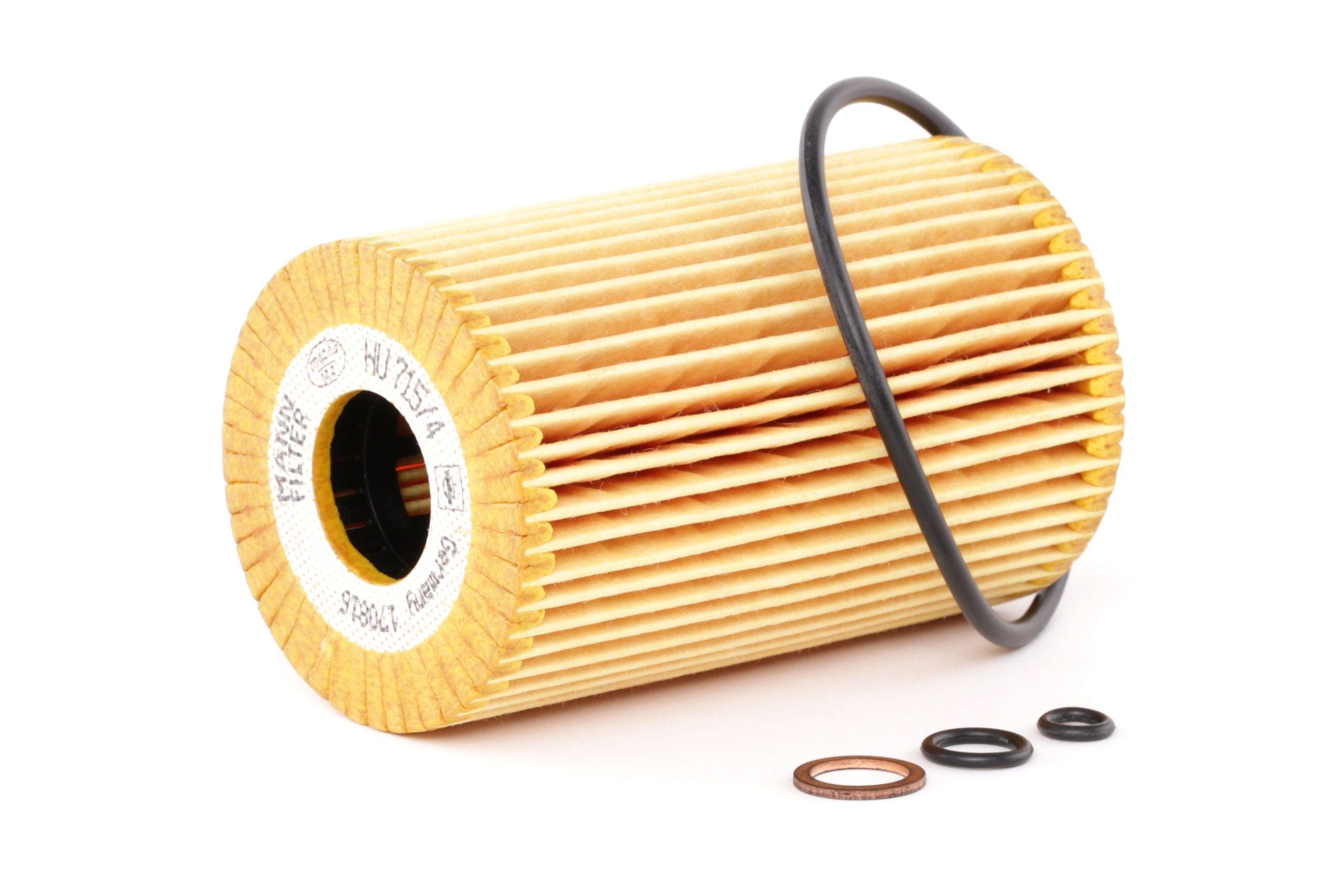 Comprare HU 715/4 x MANN-FILTER con guarnizioni Diametro interno: 25mm, Ø: 64mm, Alt.: 102mm Filtro olio HU 715/4 x poco costoso